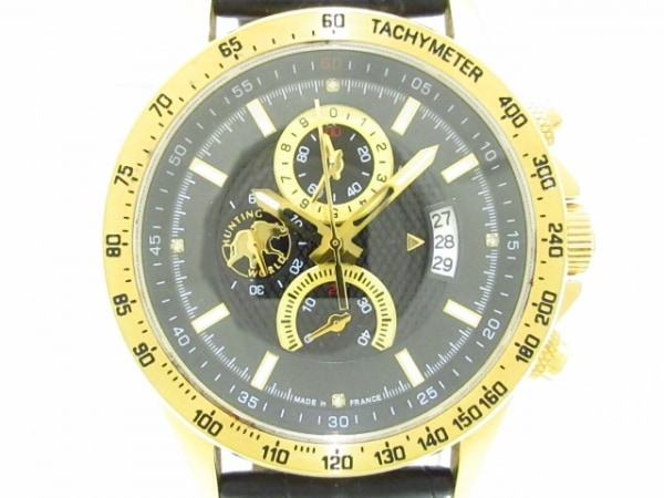 HUNTING WORLD(ハンティングワールド) 腕時計美品  - メンズ 黒