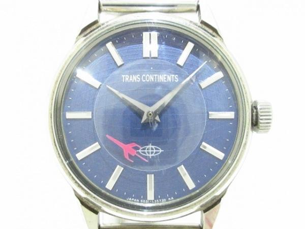 トランスコンチネンス 腕時計美品  6031-L15227 レディース ネイビー