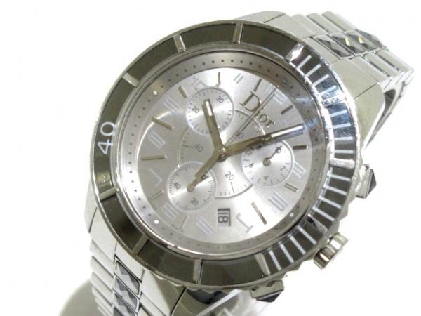 ChristianDior(ディオール) 腕時計 クリスタル CD114312 メンズ シルバー