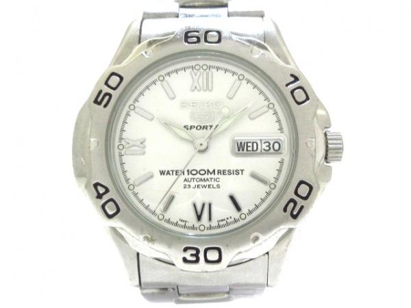 SEIKO(セイコー) 腕時計 5スポーツ 7S36-00A0 メンズ 白
