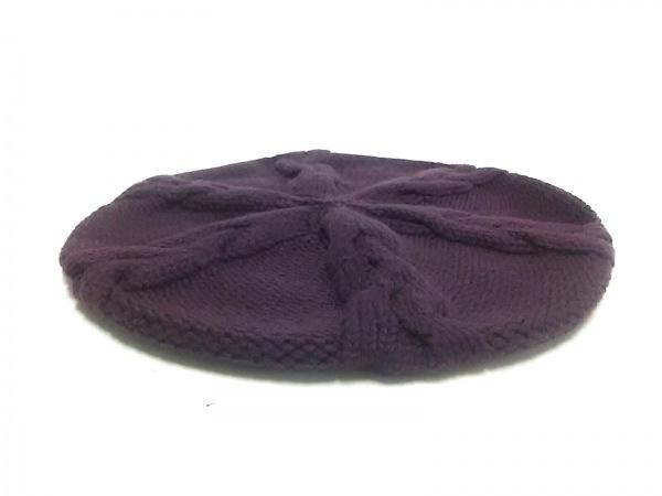 ルイヴィトン ニット帽美品  ベレ・コロンビア M72705 カシス ウール100%