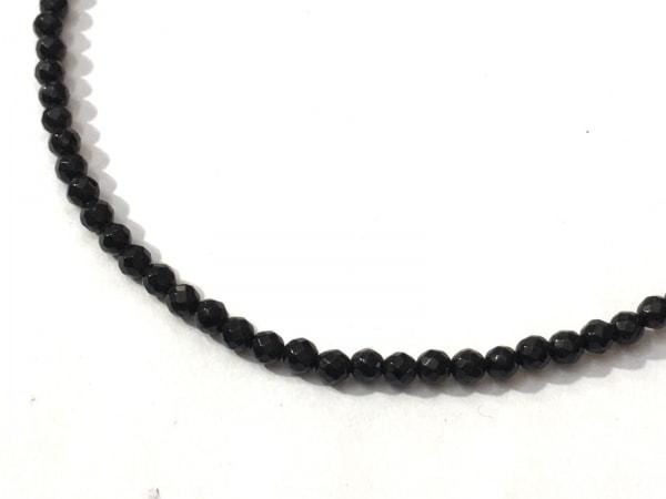 ジャスティンデイビス ネックレス美品  タイニーオニキスチェーン SNJ330 黒