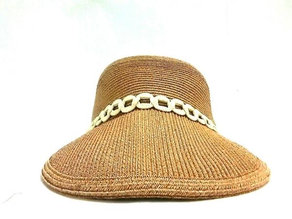 Athena(アシーナ) 帽子美品  ベージュ ペーパー×コットン