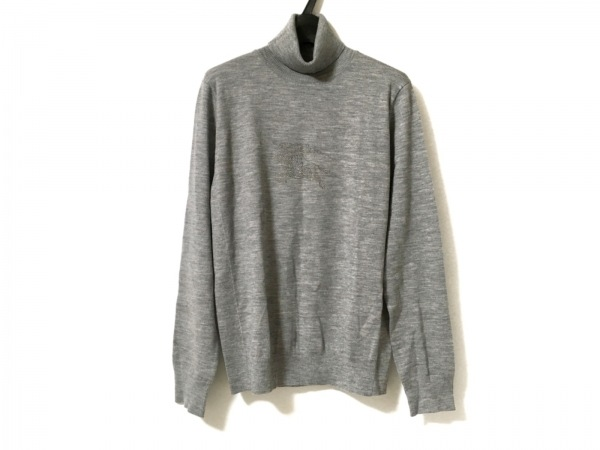バーバリーロンドン 長袖セーター サイズ2 M レディース美品  グレー