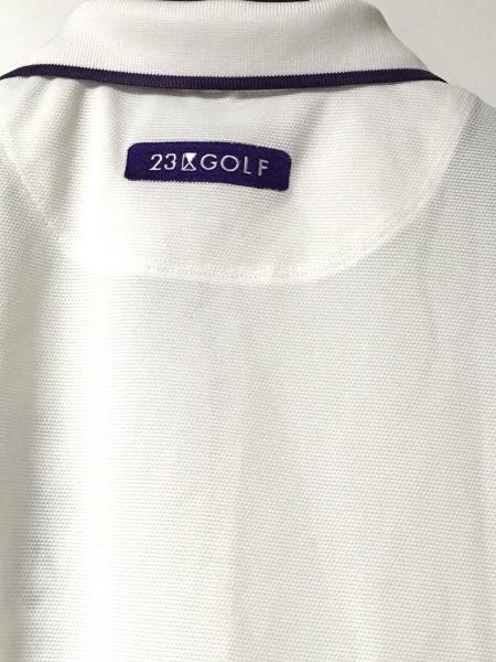 23区(ニジュウサンク) 半袖ポロシャツ サイズ1 S レディース美品  白×パープル GOLF