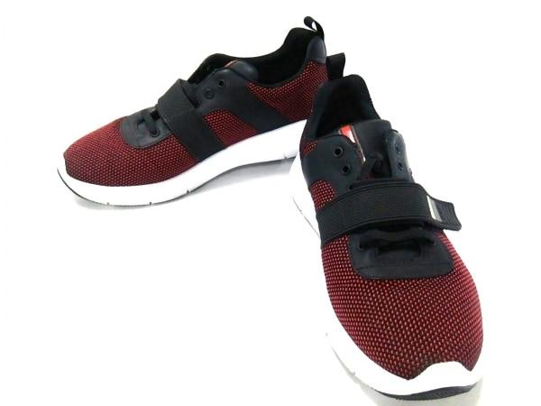 プラダスポーツ スニーカー 7 メンズ美品  Technical mesh & Leather Sneakers 4E3174