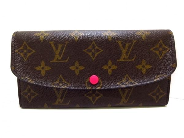 ルイヴィトン 長財布 モノグラム美品  ポルトフォイユ・エミリー M41943 ホットピンク