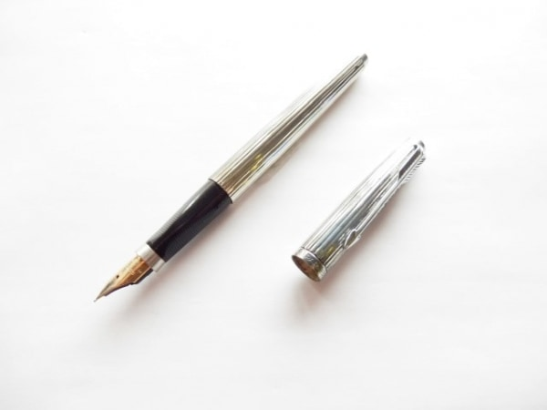 PARKER(パーカー) 万年筆 シルバー インクなし/ペン先14K 金属素材
