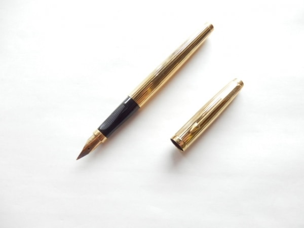 PARKER(パーカー) 万年筆美品  ゴールド インクなし/ペン先14K 金属素材