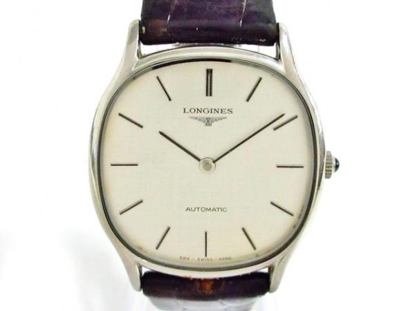 LONGINES(ロンジン) 腕時計美品  - メンズ クロコベルト シルバー