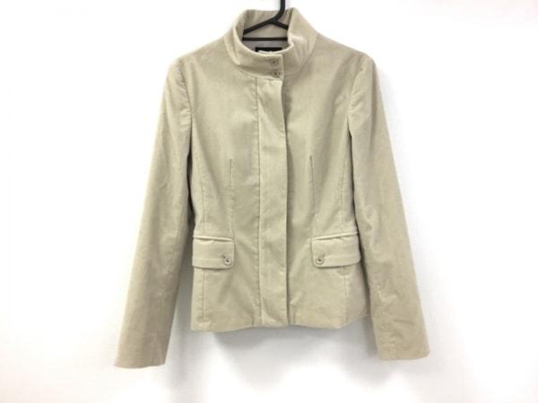 ニジュウサンク ジャケット サイズ38 M レディース美品  アイボリー コーデュロイ