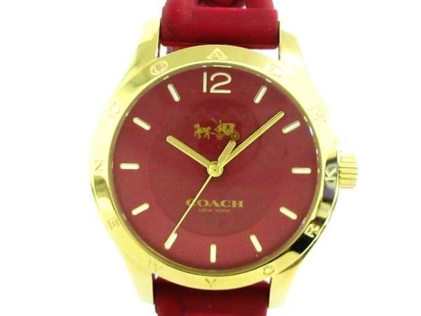 コーチ 腕時計美品  ミニシグネチャー柄 CA.79.7.95.1213 レディース ラバーベルト