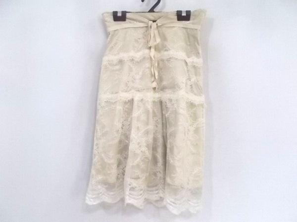 ジャスグリッティー スカート サイズ2 M レディース新品同様  ベージュ レース