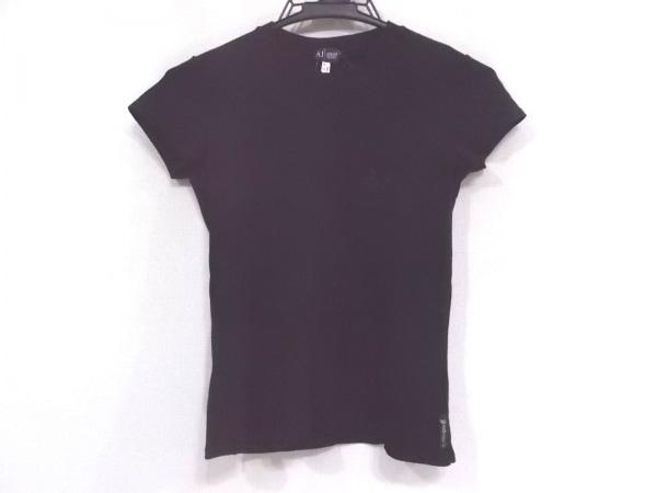 ARMANIJEANS(アルマーニジーンズ) 半袖Tシャツ サイズ38 S レディース美品  黒