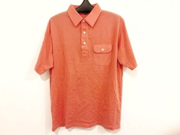 クリスチャンディオールムッシュ 半袖ポロシャツ サイズL メンズ オレンジ