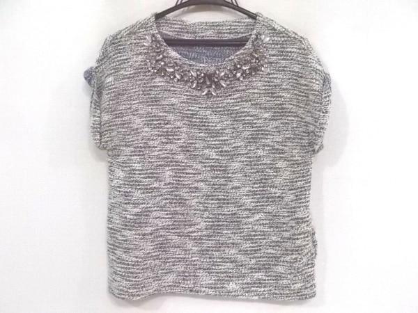 ダイアグラム 半袖セーター サイズ36 S レディース新品同様  ビジュー/ラメ