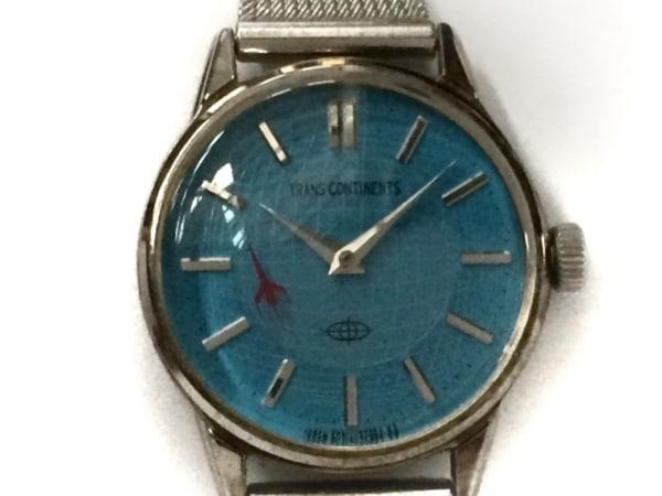 トランスコンチネンス 腕時計 6031-L15227 レディース ライトブルー