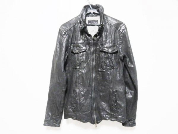 FAKTOR(ファクター) ライダースジャケット メンズ 黒 レザー