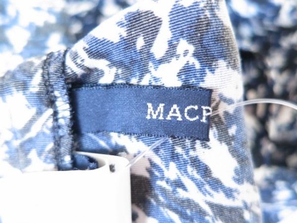 MACPHEE(マカフィ) ワンピース サイズ38 M レディース美品  ネイビー×黒×マルチ