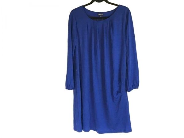 INDIVI(インディビ) ワンピース サイズ44 L レディース美品  ブルー