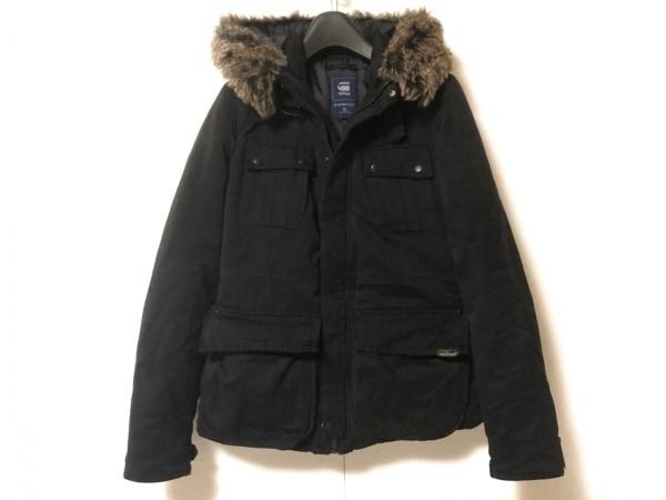 G-STAR RAW(ジースターロゥ) コート サイズS レディース 黒 フェイクファー/冬物