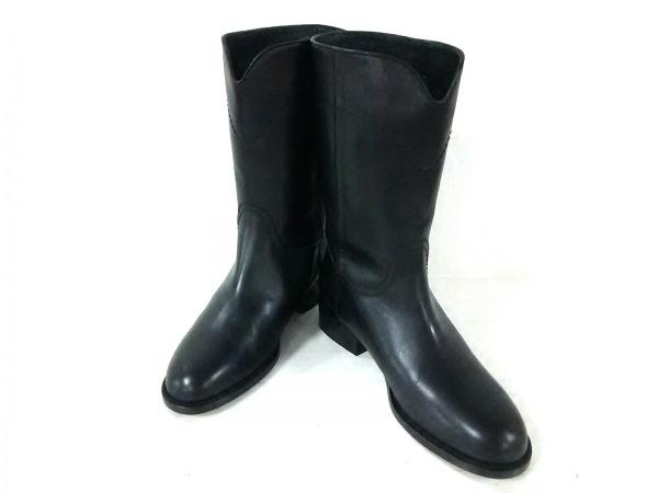 CHANEL(シャネル) ブーツ 36 C レディース G26068 黒 ココマーク レザー