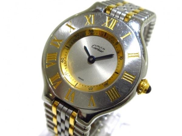 Cartier(カルティエ) 腕時計 マスト21SM W10073F レディース SS×YG シルバー