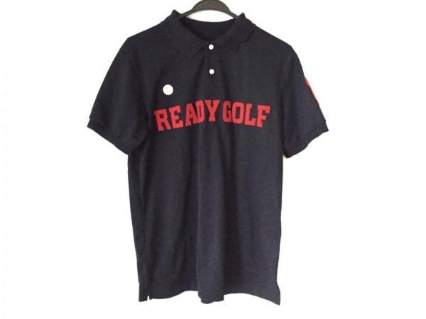 パーリーゲイツ 半袖ポロシャツ サイズ6 メンズ ダークネイビー×レッド