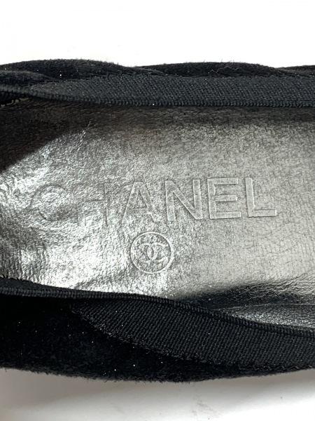 CHANEL(シャネル) パンプス 39 レディース 黒×シルバー スエード×グリッター