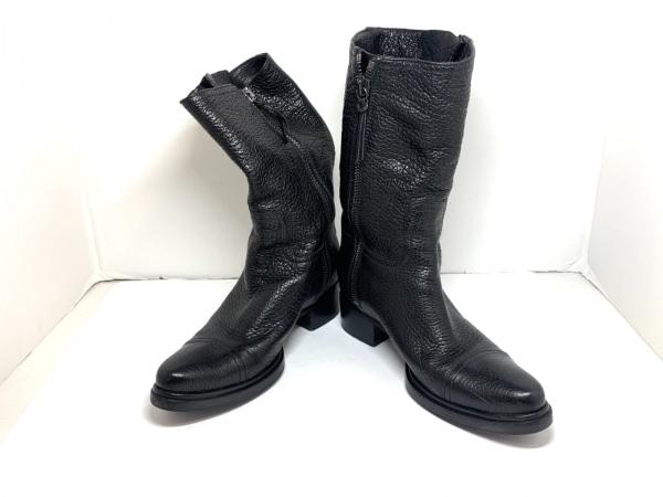 miumiu(ミュウミュウ) ブーツ 38.5 レディース 黒 レザー
