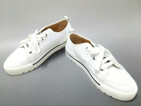HERMES(エルメス) スニーカー 43 メンズ美品  白 レザー