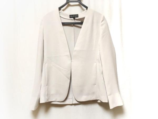 INDIVI(インディビ) ジャケット サイズ38 M レディース新品同様  ベージュ