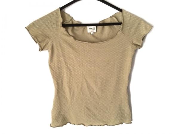 アルマーニコレッツォーニ 半袖Tシャツ サイズ42 M レディース美品  ベージュ