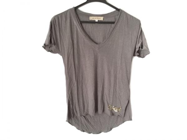 シーバイクロエ 半袖Tシャツ サイズI 40 レディース ダークグレー×ゴールド