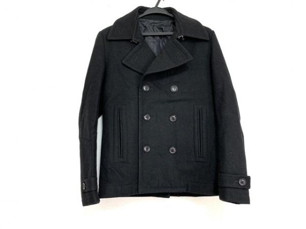 MofM(マンオブムーズ) Pコート サイズ2 M メンズ美品  黒 冬物