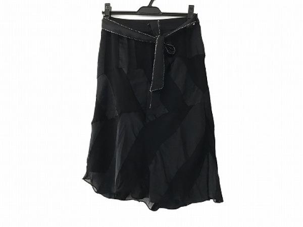 グレースコンチネンタル スカート サイズ36 S レディース美品  黒 ビーズ