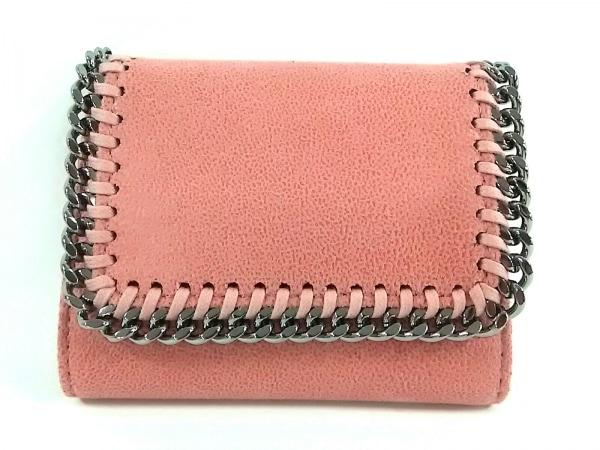 ステラマッカートニー 3つ折り財布美品  ピンク×シルバー 1