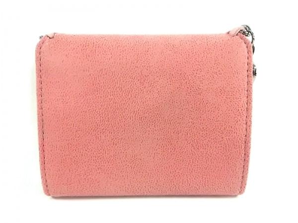 ステラマッカートニー 3つ折り財布美品  ピンク×シルバー 2