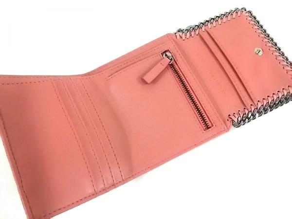 ステラマッカートニー 3つ折り財布美品  ピンク×シルバー 3