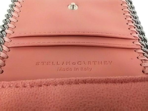 ステラマッカートニー 3つ折り財布美品  ピンク×シルバー 5