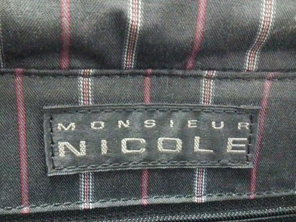 monsieur NICOLE(ムッシュニコル) ビジネスバッグ 黒 ナイロン×レザー