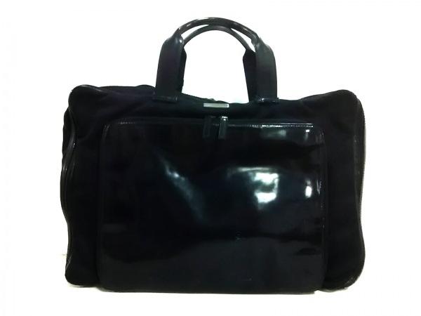 GUCCI(グッチ) ビジネスバッグ - - 黒 ナイロン×レザー