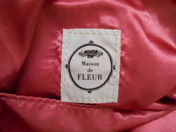 メゾンドフルール トートバッグ アイボリー×ピンク×マルチ 花柄 サテン