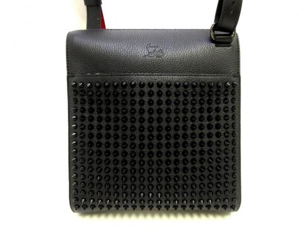 クリスチャンルブタン ショルダーバッグ美品  Benech Reporter Medium 3195034 黒