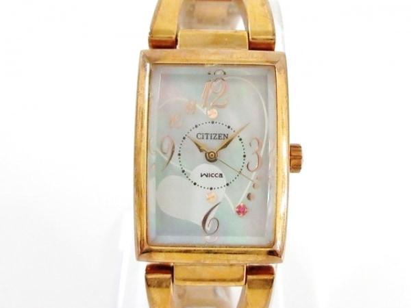CITIZEN(シチズン) 腕時計 wicca B035-S051843 レディース シェル文字盤/エコドライブ