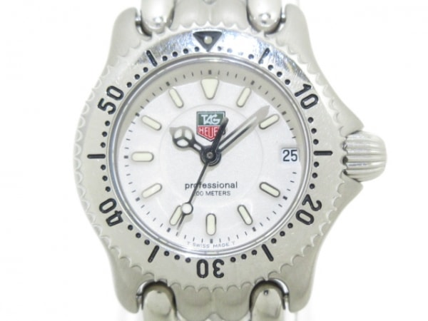 TAG Heuer(タグホイヤー) 腕時計美品  プロフェッショナル200 WG1412-0 レディース 白
