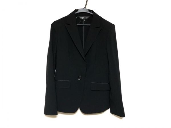 INDIVI(インディビ) ジャケット サイズ40 M レディース美品  黒 ストライプ