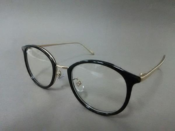 Mila Owen(ミラオーウェン) メガネ美品  黒×ゴールド 金属素材×プラスチック