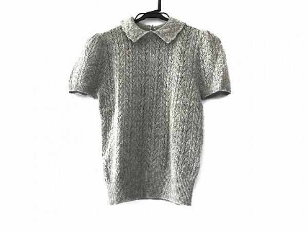 ラルフローレンラグビー 半袖セーター サイズM レディース美品  ライトグレー
