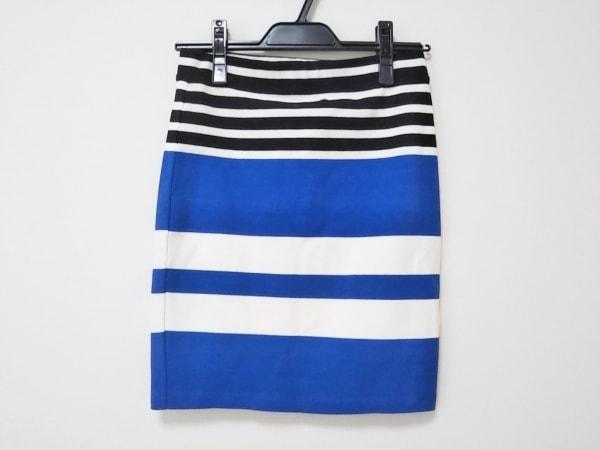 アレキサンダーワン スカート サイズXS レディース新品同様  ブルー×アイボリー×黒